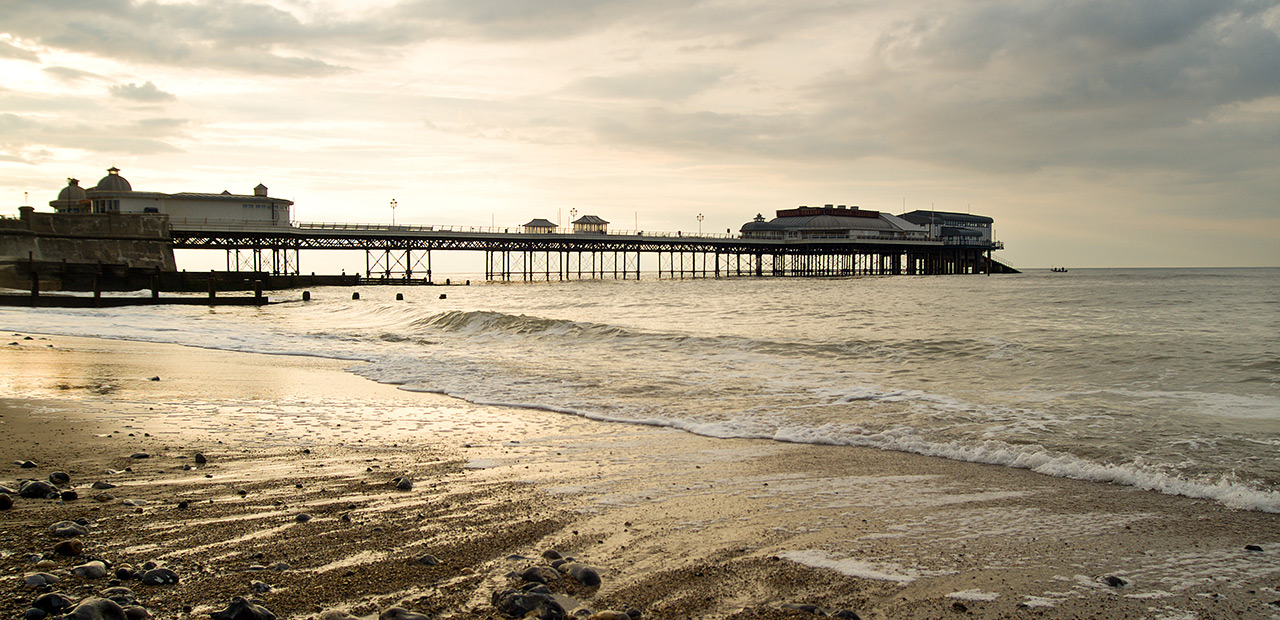 Cromer Pier and beach.