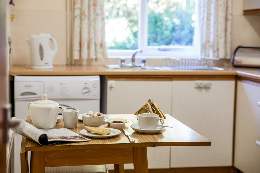 Kitchen area in The Bungalow holiday cottage.
