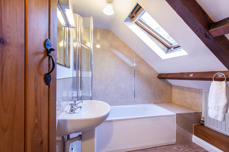 Bathroom in The Cottage.