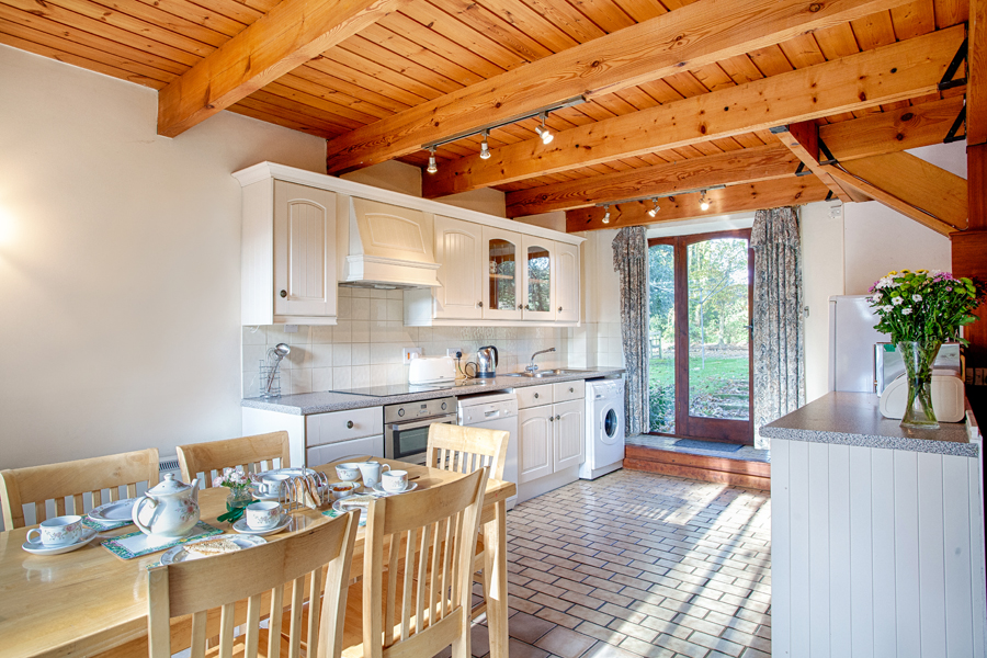 Kitchen view - The Barn holiday cottage.